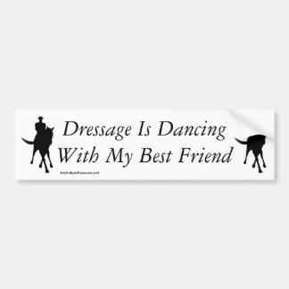 Adesivo De Para-choque Dança do adestramento com meu cavalo do melhor