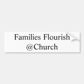 """Adesivo De Para-choque Das """"etiqueta do Flourish famílias"""""""