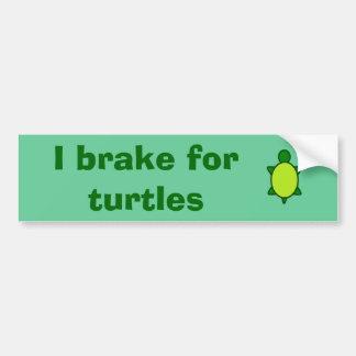 Adesivo De Para-choque Dê a tartarugas um freio!