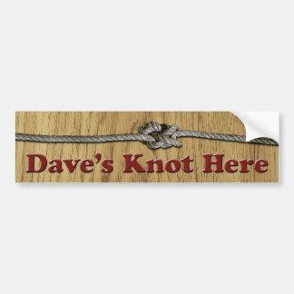 Adesivo De Para-choque De Dave do nó autocolante no vidro traseiro aqui -