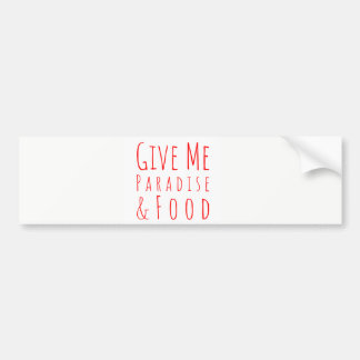 Adesivo De Para-choque Dê-me o autocolante no vidro traseiro do paraíso
