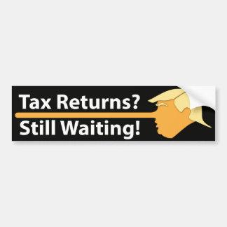 Adesivo De Para-choque Declarações de rendimentos? Ainda esperando! (no