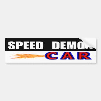 Adesivo De Para-choque Demónio de velocidade