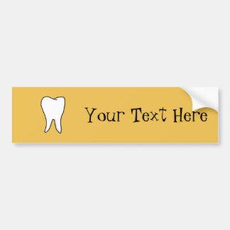 Adesivo De Para-choque Dente branco saudável