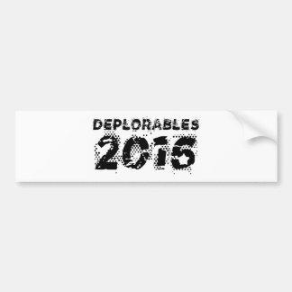 Adesivo De Para-choque Deplorables 2016