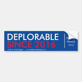 Adesivo De Para-choque DeplorableSince2016