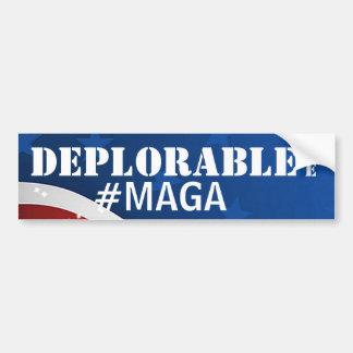 Adesivo De Para-choque Deplorável eu #MAGA/faz o excelente de América