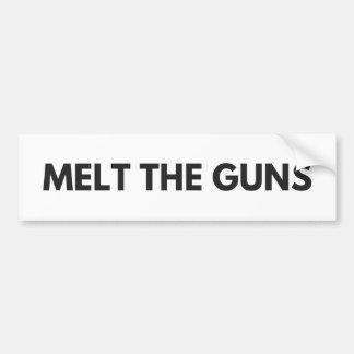 Adesivo De Para-choque Derreta as armas