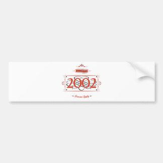 Adesivo De Para-choque Desde 2002 (Red&Black)