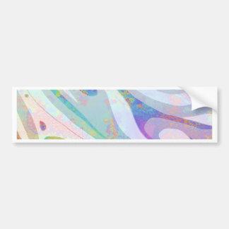 Adesivo De Para-choque Design abstrato das ondas das cores