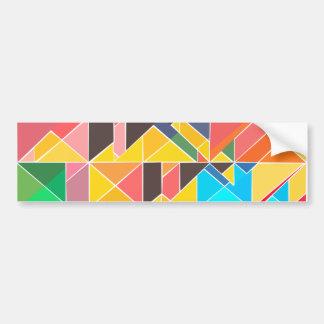 Adesivo De Para-choque Design abstrato triangular