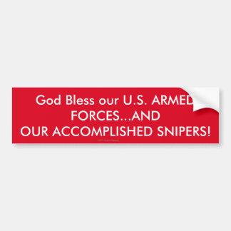 Adesivo De Para-choque Deus abençoe nossas FORÇAS ARMADAS dos E.U.… E