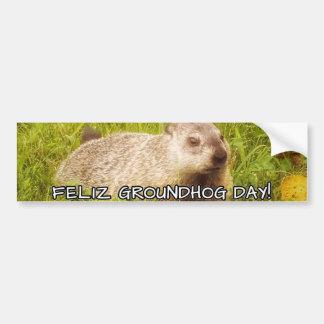 Adesivo De Para-choque Dia de Feliz Groundhog! autocolante no vidro