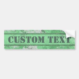 Adesivo De Para-choque Digi verde Camo com texto feito sob encomenda