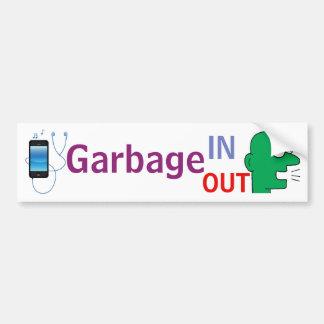 """Adesivo De Para-choque Do """"lixo DENTRO - do lixo etiqueta para fora"""""""