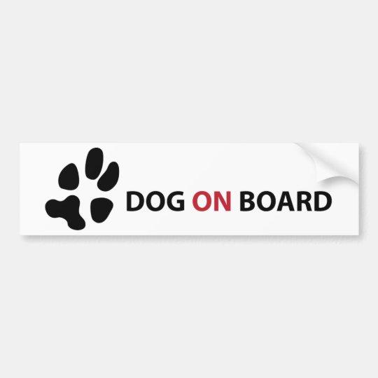 ADESIVO DE PARA-CHOQUE DOG ON BOARD