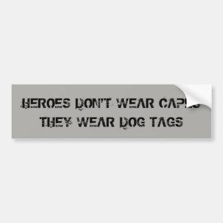 Adesivo De Para-choque Dog tags do desgaste dos heróis