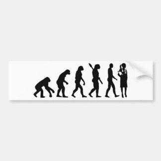 Adesivo De Para-choque Doutor da fêmea da evolução