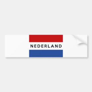 Adesivo De Para-choque dutch holandês do nome do texto do nederland do