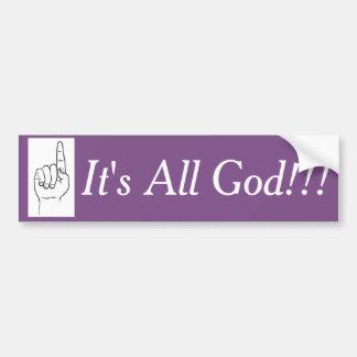 Adesivo De Para-choque É todo o deus!!! Etiqueta