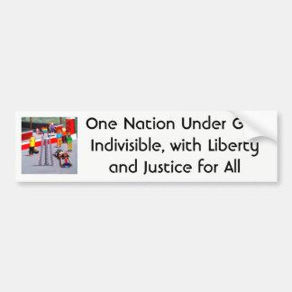 Adesivo De Para-choque E.U. e bandeiras do orgulho feitas dos blocos