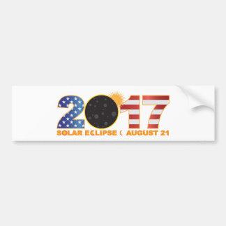 Adesivo De Para-choque Eclipse 2017 solar total sobre os EUA numerais