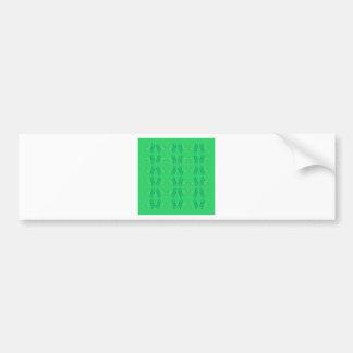 Adesivo De Para-choque Eco verde das mandalas do bem-estar
