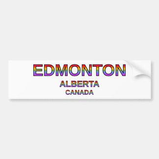 Adesivo De Para-choque Edmonton orgulhoso, Alberta, Canadá