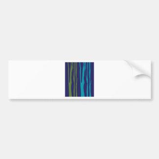 Adesivo De Para-choque Elementos do azul das árvores do DESIGN