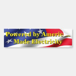 Adesivo De Para-choque eletricidade Americano-feita para meu EV