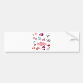 Adesivo De Para-choque Eletricidade cor-de-rosa doce da cozinha e ícone