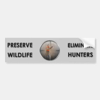 Adesivo De Para-choque Elimine caçadores