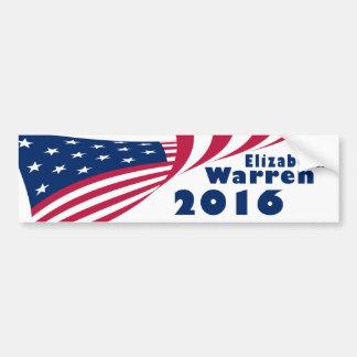 Adesivo De Para-choque Elizabeth Warren 2016