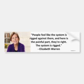 Adesivo De Para-choque Elizabeth Warren - o sistema é equipado