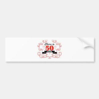 Adesivo De Para-choque Elogios a 50 anos