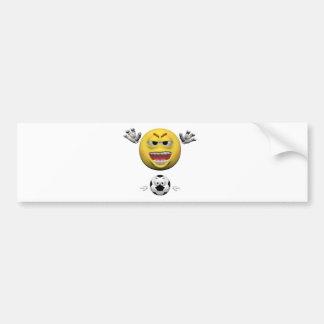 Adesivo De Para-choque Emoticon amarelo ou smiley do futebol