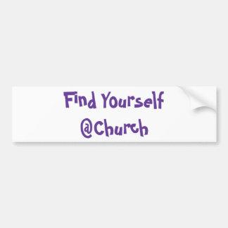 Adesivo De Para-choque Encontre-se etiqueta do @Church