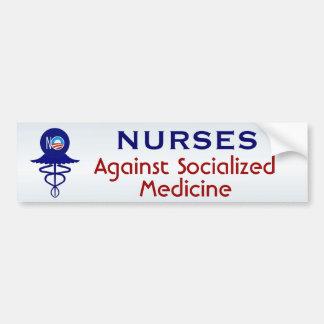 Adesivo De Para-choque Enfermeiras contra a medicina socializada