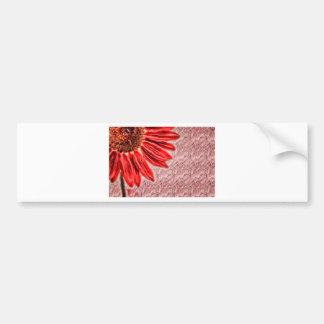 Adesivo De Para-choque Esboço vermelho do girassol