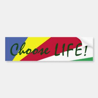 Adesivo De Para-choque Escolha a VIDA! Colorido