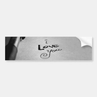 Adesivo De Para-choque Escrito à mão eu te amo