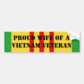 Adesivo De Para-choque Esposa orgulhosa de um veterano de Vietnam