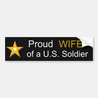 Adesivo De Para-choque ESPOSA orgulhosa de uma família das forças armadas