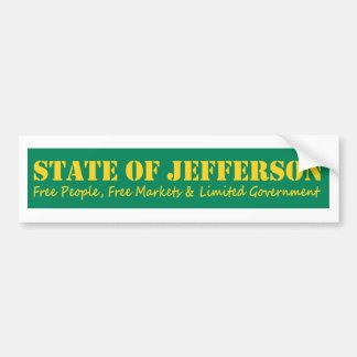 Adesivo De Para-choque Estado de etiqueta do bumber de Jefferson