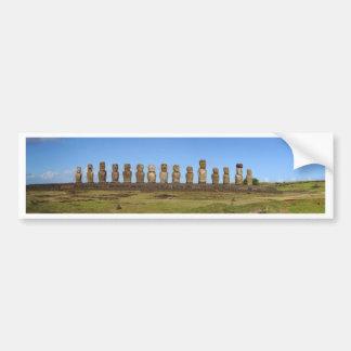 Adesivo De Para-choque Estátuas da Ilha de Páscoa
