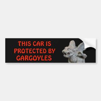 Adesivo De Para-choque Este carro protegido pelas gárgulas vermelhas no
