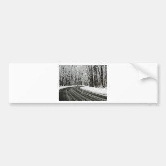 Adesivo De Para-choque Estrada de enrolamento curvada neve