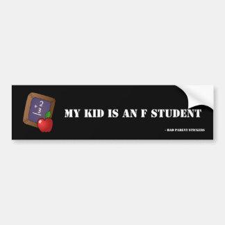 Adesivo De Para-choque Estudante de F