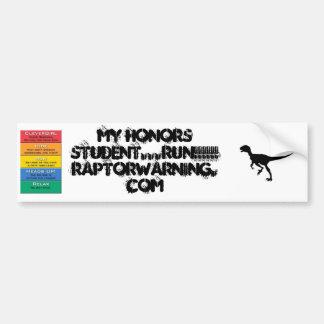 Adesivo De Para-choque Estudante Running das honras