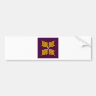 Adesivo De Para-choque Ethno do vinho do ouro da mandala do design